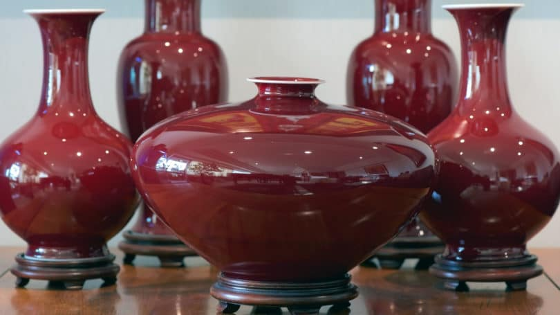 Qing Dynasty Red Oxblood Porcelain Rare Collectible