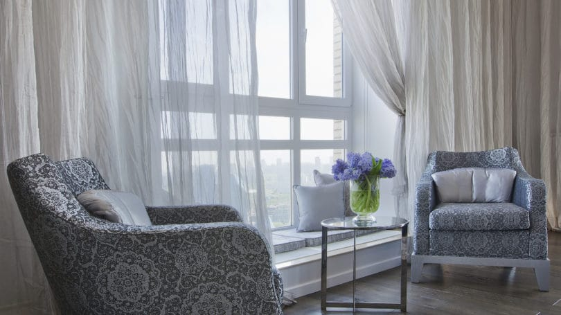 Curtains Living Room Interior Design Decorating