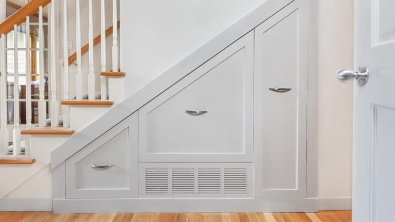Hiding Airvent With Closet Cabinet Stairs