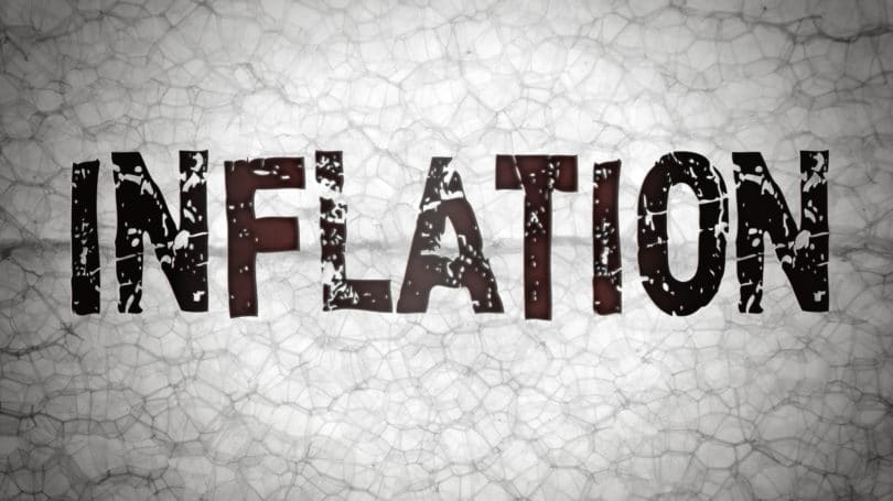 Inflation Letters Grey Cracked