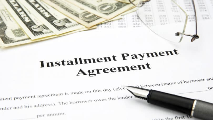 Installment Payment Agreement Contract Cash Pen