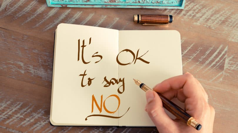 Its Ok To Say No Notebook Handwritten Fountain Pen