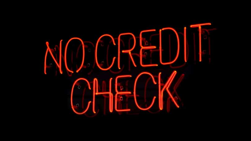 No Credit Check Neon Sign Red Black