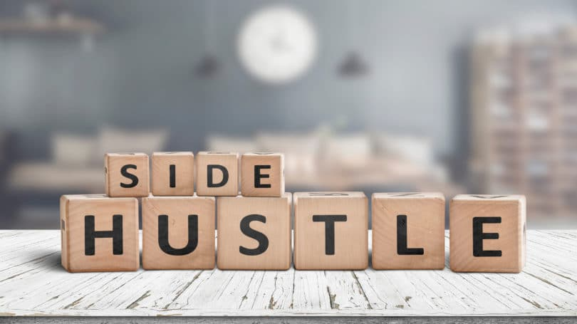 Side Hustle Letters Blocks