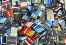 Pile Mobile Phones