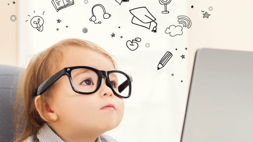 Baby Toddler Smart Science Thinking Glasses