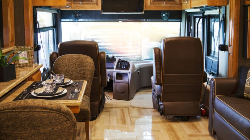 Rv Inside Camping Driving Traveling Kitchen