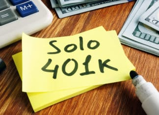 Solo 401k Post It Marker Cash