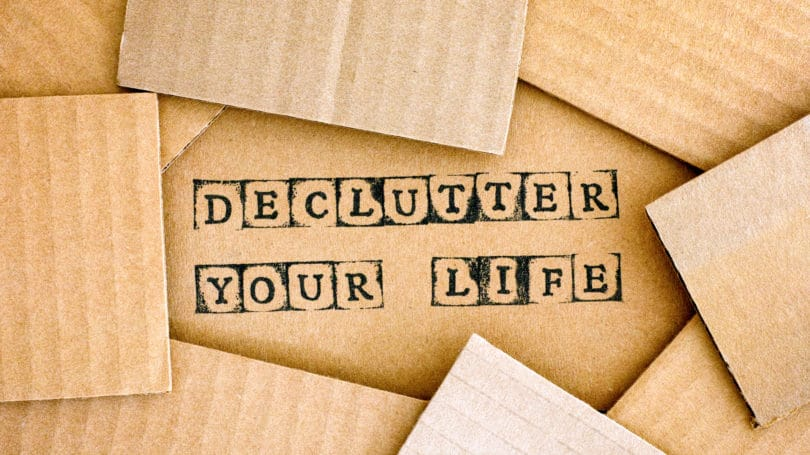 Declutter Your Life Cardboard Box Stamp Ink
