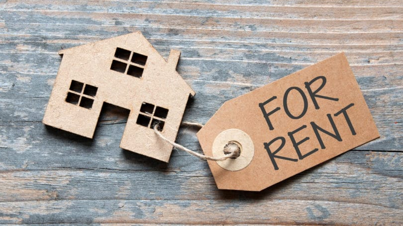 Home House For Rent Tag Cardboard
