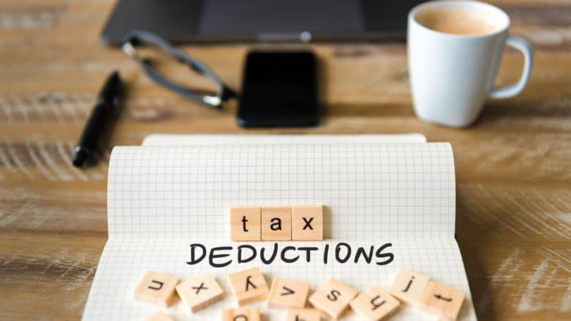 Tax Deduction Letters Cup Table
