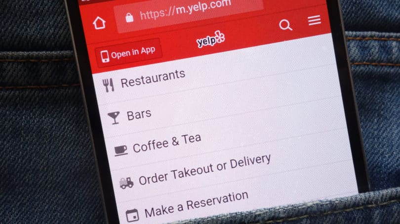 Yelp App Phone Restaurant Bar Filter Options