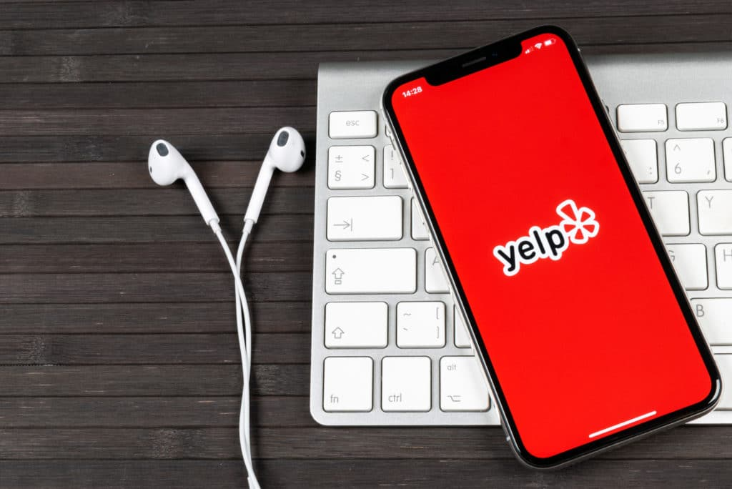 Yelp Phone App Keyboard Earphones