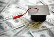College Education Cost Cap Hundred Dollar Bills Cash