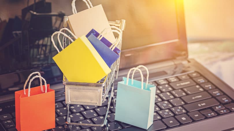 Colorful Shopping Bags Cart Online Spree